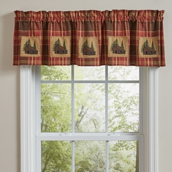 Cabin Creek Lined Patch Valance