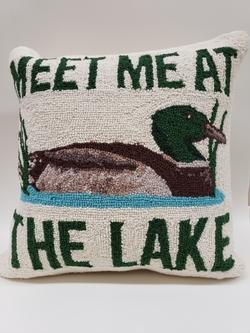 Lake Mallard Hooked Pillow - 18