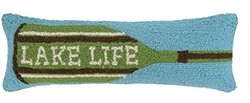 Lake Life Paddle Hooked Pillow - 8