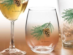 Stemless Pinecone Glasses - Set of 4