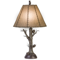 Pine Branches with Pinecones Lamp