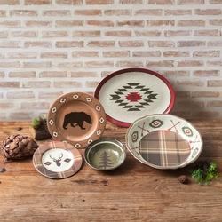 Aztec Bear 14-PC Dinnerware Set