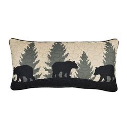 Bear Walk Plaid Rectangle Pillow