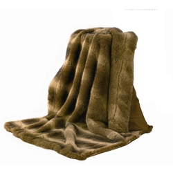 Oversized Wolf Faux Fur Throw