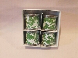 Green Swirl Napkin Ring - Set of 4
