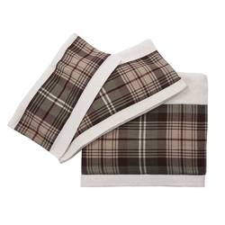Huntsman Plaid 3 Piece Towel Set - Cream
