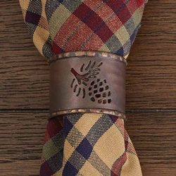 Fulton Pinecone Cuff Napkin Ring- Set of 2