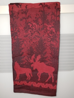 Wilderness Jacquard Dish Towel - Rich Brick Red