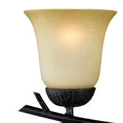 Sierra 2L Vanity Light Black Walnut