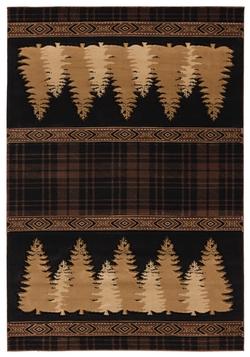 Cottage Plaid Pines - 5 Sizes