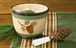 Pine Lodge Dip Bowl with Spreader