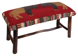 Two Cinnamon Buffalo Bench