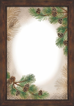 Pinecone Large Decorative Mirror