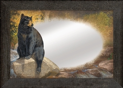 Black Bear Large Decorative Mirror