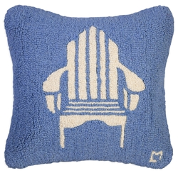 Adirondack Chair on Blue Pillow