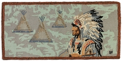Indian Chief Hooked Rug