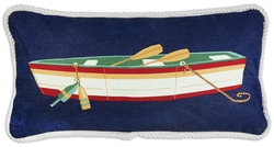 Row Boat Canvas Pillow - 12