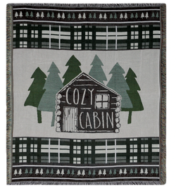 Cozy Cabin Throw and Pillow Set