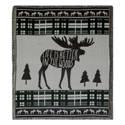 Life is Better In The Woods Throw and Pillow