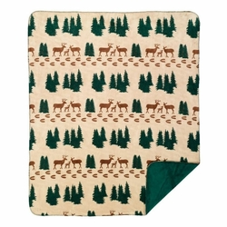 Deer Spruce Tree Throw  and Pillow