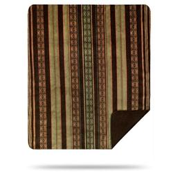 Dark Chocolate Stripe Throw and Pillow