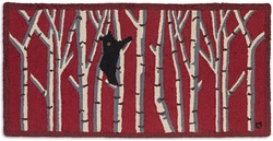 Bear in Birches on Red