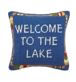 Welcome to the Lake Hooked Pillow