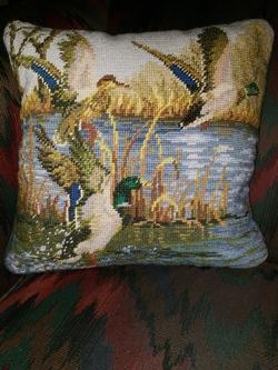 Ducks in Flight Pillow - 14