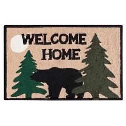 Welcome Home Black Bear Lodge Cabin Rug