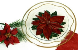Handpainted Poinsettia 14