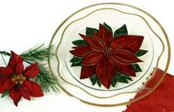 Handpainted Poinsettia 14