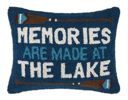 Memories Are Made at the Lake Hooked PIllow
