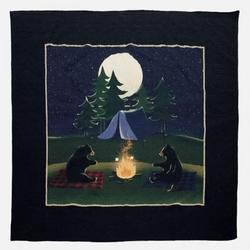Bear Campfire Quilt Set