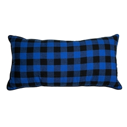 Blue and Black Checked Pillow