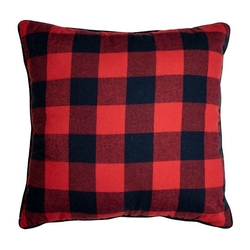 Red and Black Checked Pillow