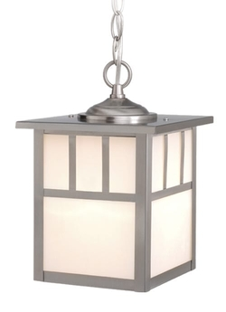 Mission 7-in Outdoor Pendant - Stainless Steel