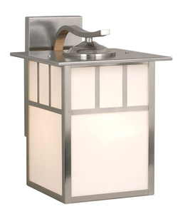 Mission 9 1/2 in. Outdoor Wall Light - Stainless Steel