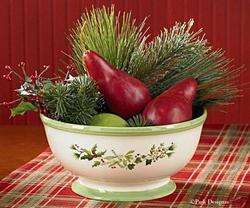 Holly & Ivy Serving Bowl