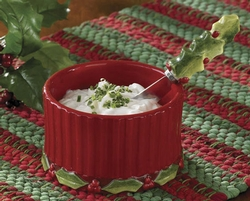 Christmas Dip  Bowl and Spreader