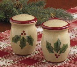 Holly Salt & Pepper Shaker Set