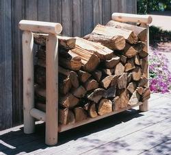 4' Log Style Firewood Rack