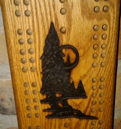 Pine Tree Cribbage Board with Bullet Pegs