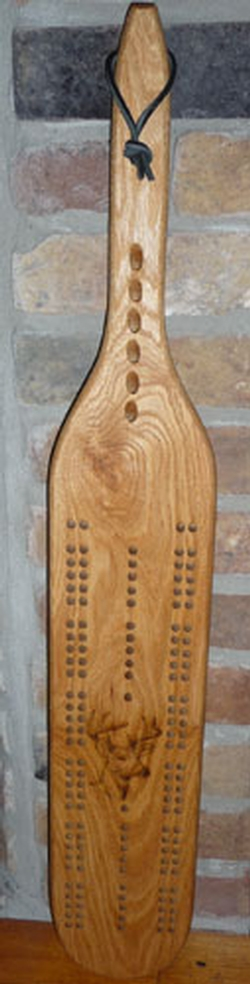 Deer Cribbage Board with Bullet Pegs