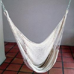Hammock Chair with Taupe Canopy