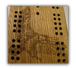 Eagle Cribbage Board