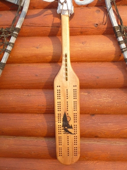 Eagle Cribbage Board With Bullet Pegs