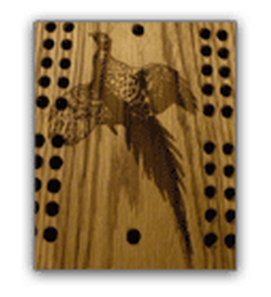 Pheasant Cribbage Board