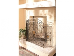 AMBER MEDALLION FIREPLACE SCREEN