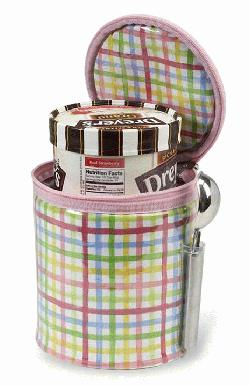 Ice Cream Tote in Rainbow Plaid
