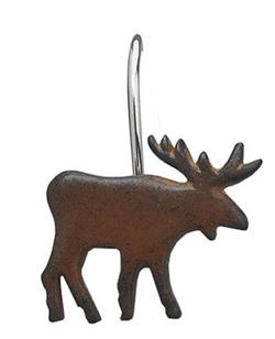 Moose Shower Hooks - Set of 12